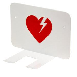Xpozed - Vitt väggfäste för Physio-Control Lifepak hjärtstartare med väska