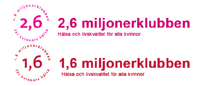 1,6 & 2,6 Miljonerklubben Logo